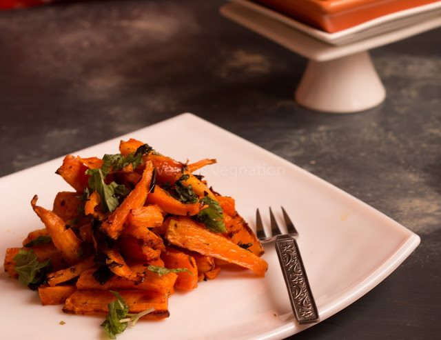 Honey roasted carrots in Air fryer
