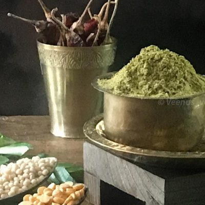 Karuvepillai podi ingredients