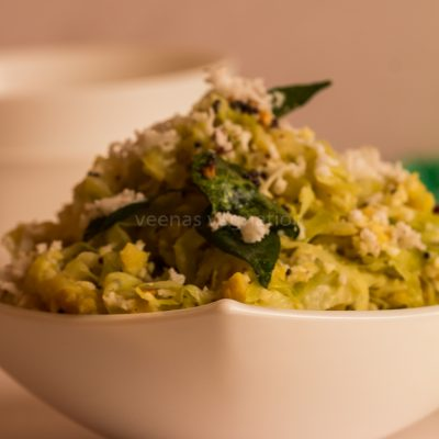 cabbage dal curry
