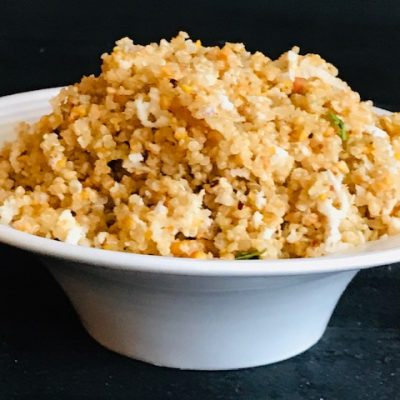 Lemon flavoured peanut quinoa