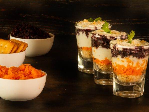 Carrot paneer mousse