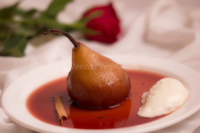 cinnamin flavoured poached per